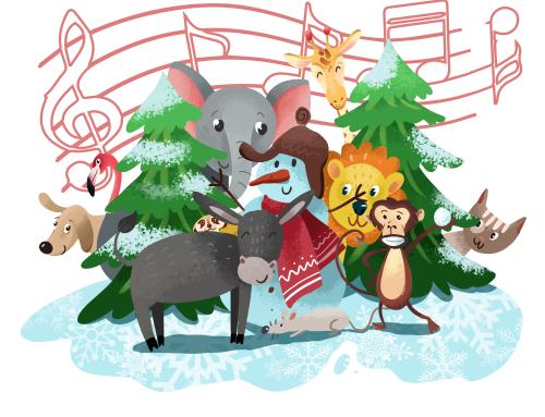 Weihnachtslieder singen mit Kindern